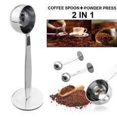 2 IN 1 Coffee Espresso Scoop 10g Plastic Measuring Spoon Tamper Length 150mm od