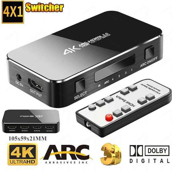 New HDMI 2 0 Switcher 4K 60Hz 4 Port Adapter Splitter Switch 4 Input 1  Output HDMI Switcher