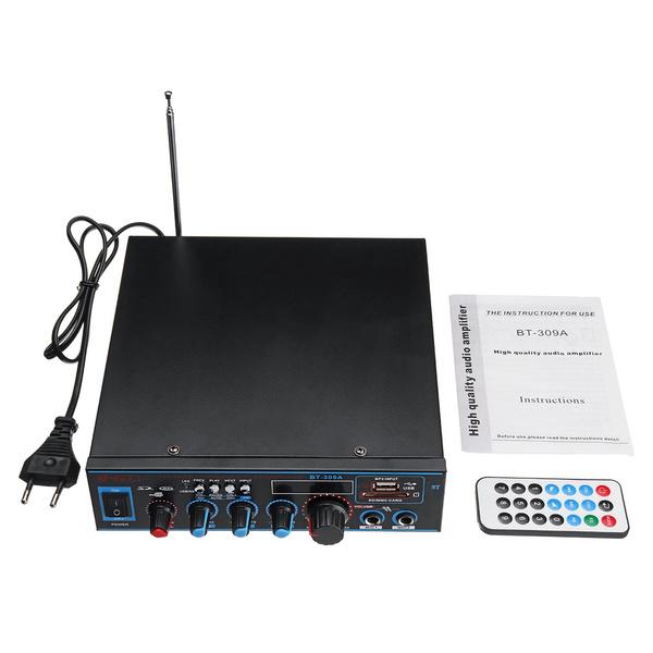 800W HiFi Endstufe Power Amp bluetooth Verstärker Stereo Amplifier 12V//220V WHO