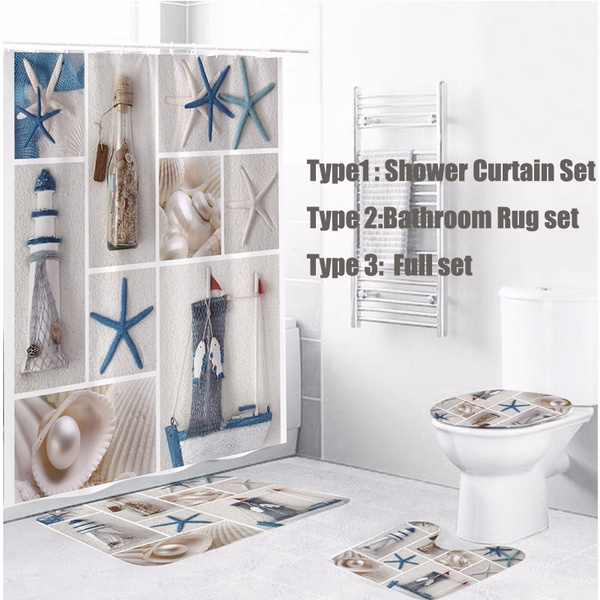 Bathroom Shower Curtain Waterproof Bath