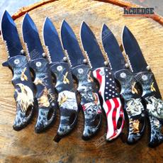Eagles, pocketknife, springassisted, serrated