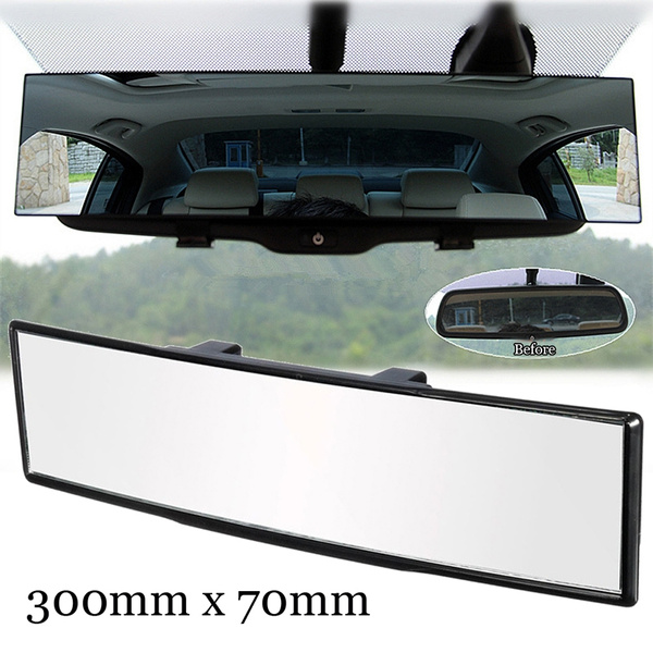 300MM Universal Car Interior Convex Wide Large-view Anti-glare Rearvew Mirror