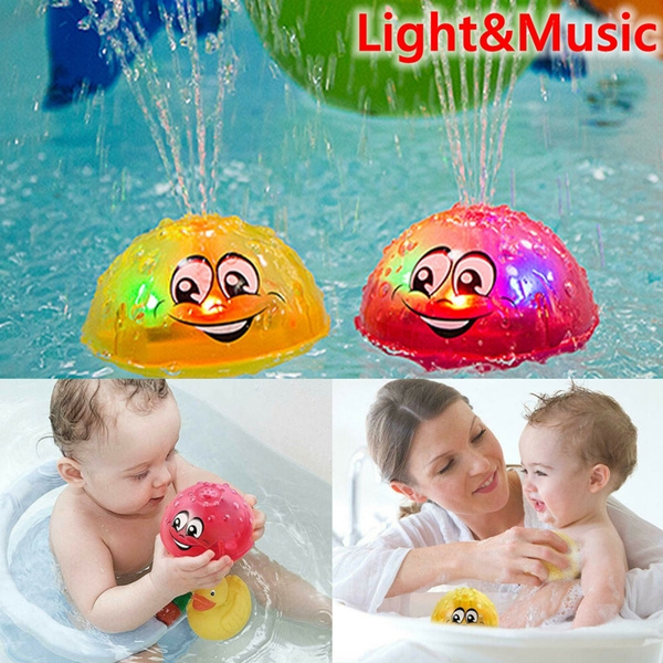 Cute Bathroom LED Light Kids Toys Water Induction In Tub Bath Time Fun