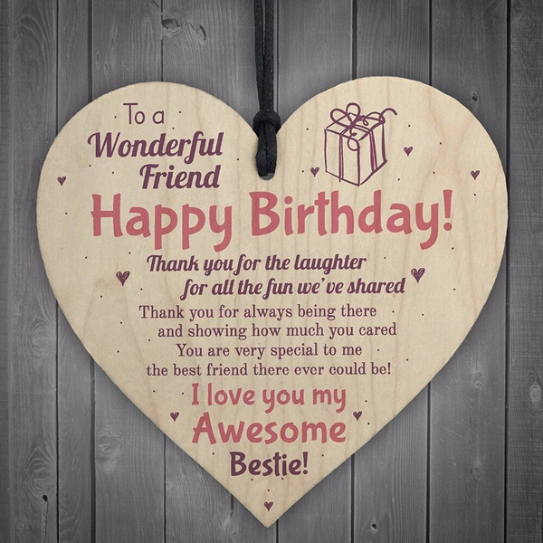 Best Friend Plaque Hy Birthday