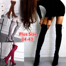 Knee High Boots, High Heel Shoe, Womens Shoes, long boots