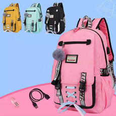 blackschoolbagsbackpack, School, antitheftbackpack, usb