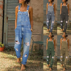 casualjumpsuit, Plus Size, rompersjumpsuit, Denim