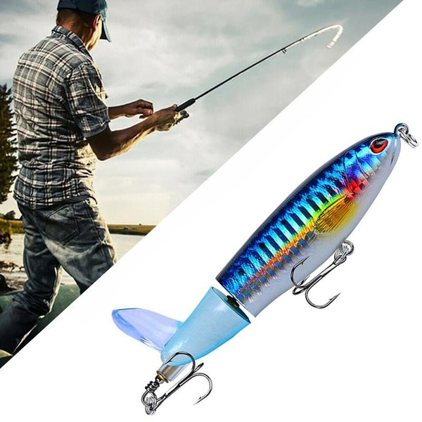 Whopper Plopper Topwater Floating Fishing Lures Rotat Tail for Bass Pike Chub*/&^