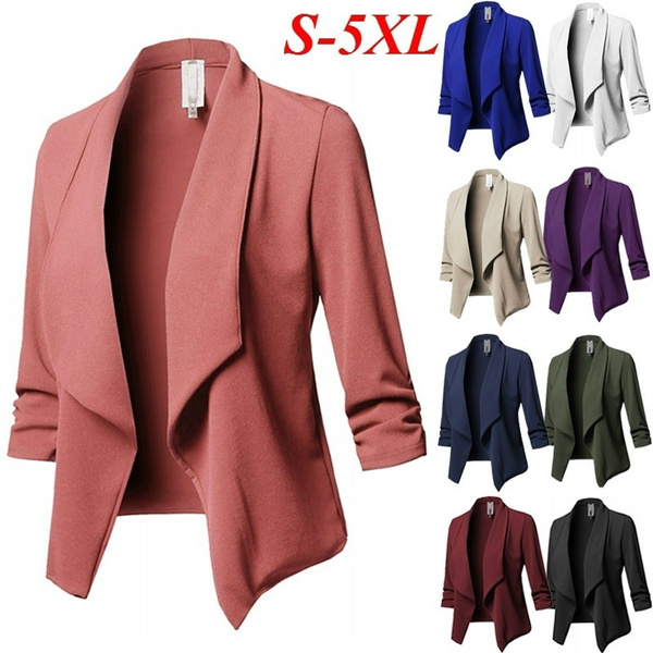 Turn-down Collar, Fashion, women coat, Office