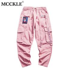 joggingpant, korea, Stitching, high waist