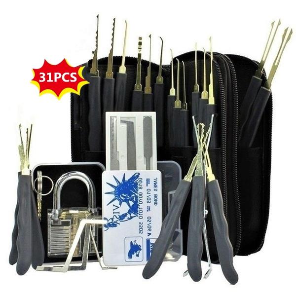 Steel, Stainless, padlocklock, lockpickset