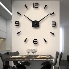 roundsilentclock, silentwallclock, wallclockstiker, Clock
