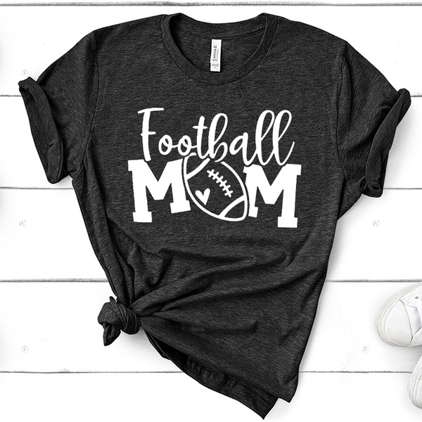 Women S Fashion New Design Football Mom Graphic Print Short Sleeve Outdoor Sports Fitness Thanksgiving Gift T Shirt Shirt Wish