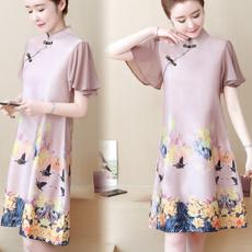 Mini, chinese dress, Chinese, Elegant