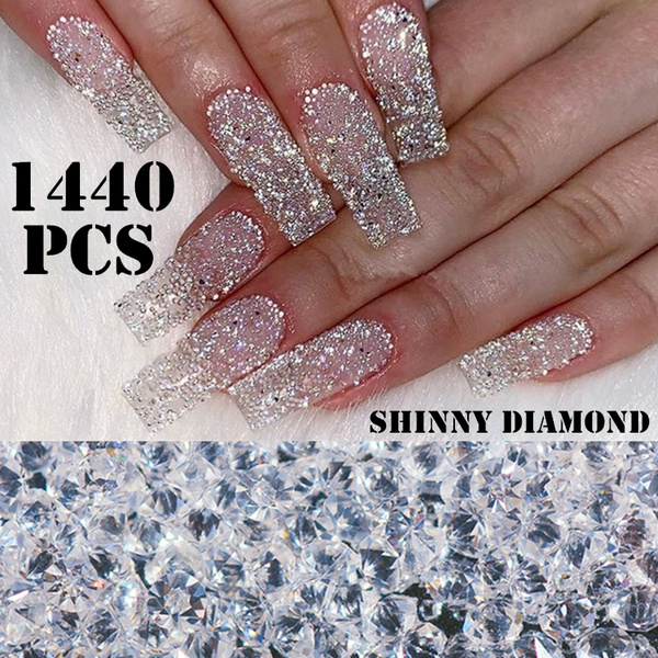 Nail Art Rhinestones Decorations Nail Crystals All For Nails Diamond Stone Accessories Supplies Ab 3d Gems Charm