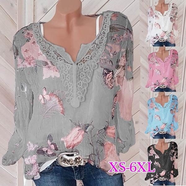 blouse, Women, lacepatchwork, blousestop