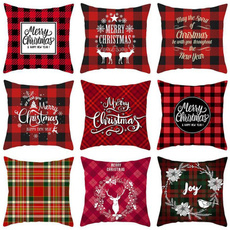 christmaspillowcase, sofadecorative, Decor, plaid