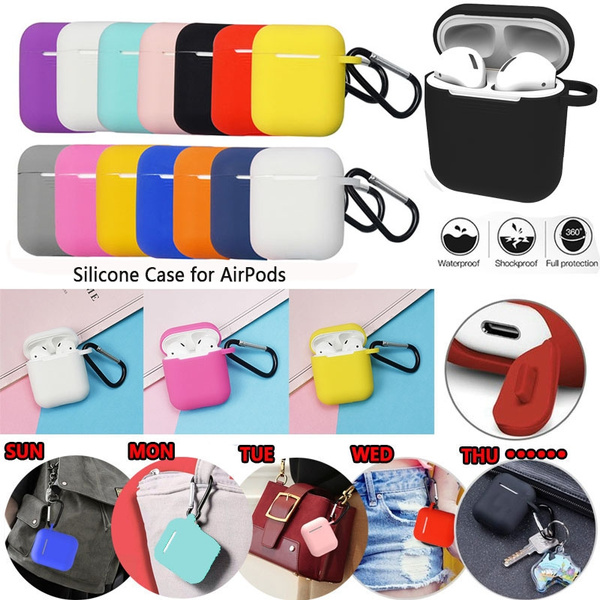 Silicone Shock Proof Protective Dust-plug Cover Case For Apple AirPods Earphones