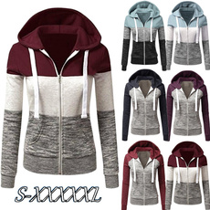 Casual Jackets, Plus Size, hooded, pullover hoodie