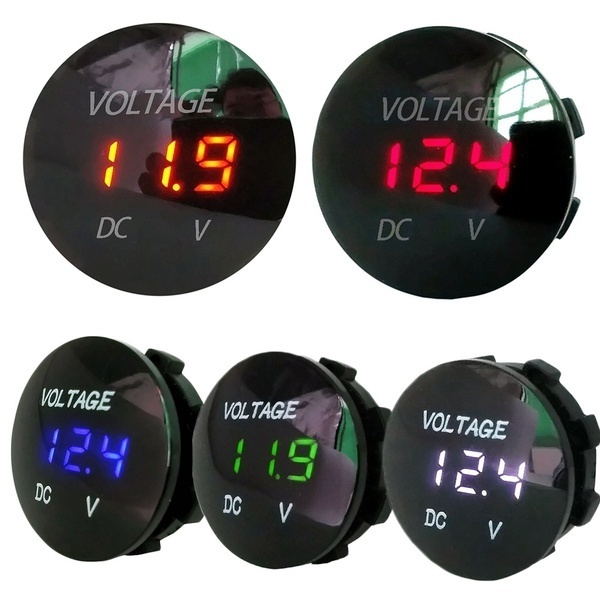 5-48V car marine motorcycle led digital voltmeter voltage meter battery DO