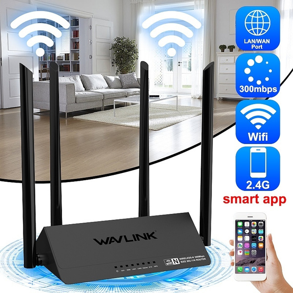 Wavlink WN521R2P Router 4x5dBi Antennas 300Mbps Wireless Router Cell Phone  App Control Wifi Signal Amplifier for Home Office Netbar