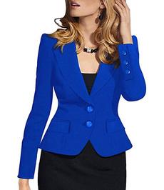 blazerjacket, solidpattern, Plus Size, officework