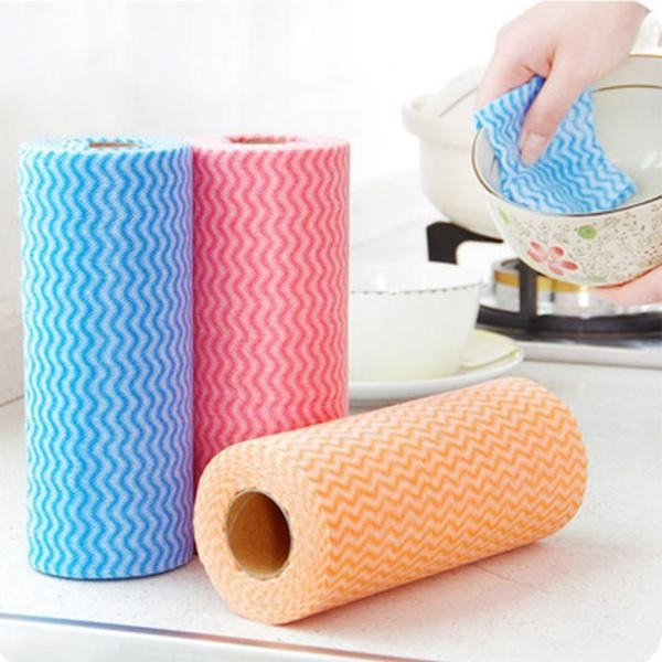 50pcs Roll Disposable Dishcloth Kitchen