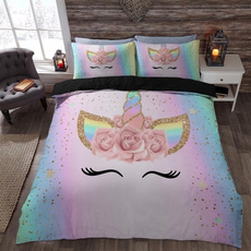 rainbow, King, Bedding, Cover