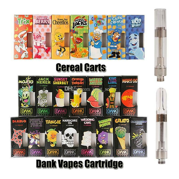 10 Packs New Black Dank Vapes & Creal Carts Packaging With 1 0ml Empty  Ceramic Cartridges