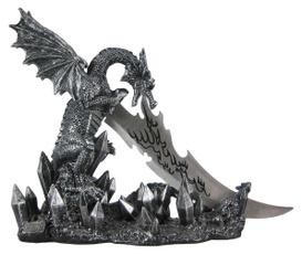 dagger, Home Decor, bookendshomeoffice, dragon