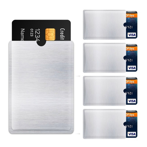 Foil Anti-theft Sleeve Wallet Protect Case Cover Card Holder RFID Blocking