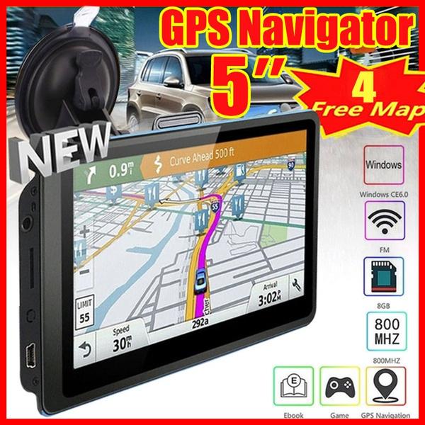 Upgrade 5 Inch 8GB ROM Durable Driver Alerts Spoken HD Car GPS Navigation  FM Free Map of automobile GPS navigator truck