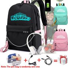 School, myheroacademia, usb, Backpacks