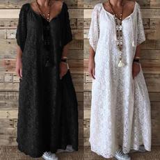 Evening Dress, long dress, plus size dress, lacecrochetdres