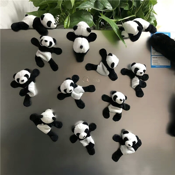 Cute Soft Plush Panda Fridge Magnet Refrigerator Sticker Home Decoration