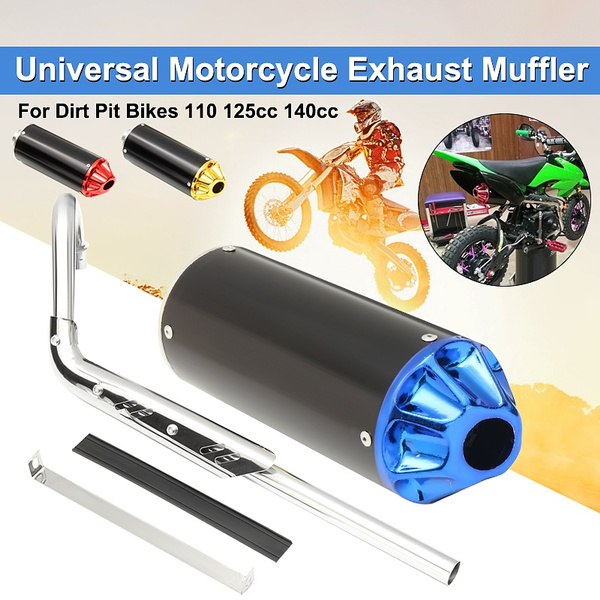 PIT DIRT BIKE GOLD PERFORMANCE CNC EXHAUST PIPE SYSTEM MUFFLER 110 125cc 140cc