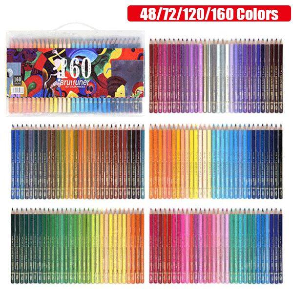 New Colors 48//72//120//160 Oil Pencils Set Artist Painting Sketching School Art