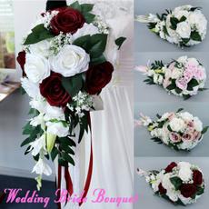 Bridesmaid, Decor, artificialweddingbouquet, wand