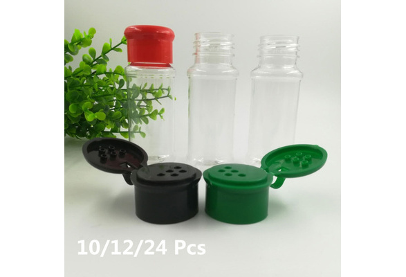 10//12//24Pcs BBQ Spice Pot Seasoning Bottle Jar Pepper Shakers Salt Jar Condiment