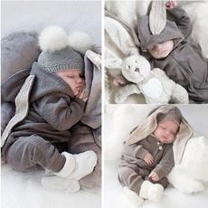 babykidsplaysuit, babyrabbitplaysuit, Clothes, Sleeve
