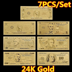 goldfoilmoney, banknotescollection, goldplatedcoin, Jewelry