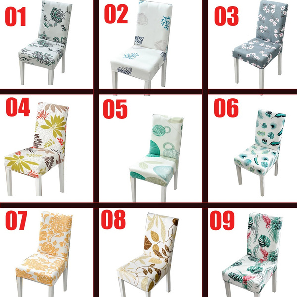 Wish | 2/4/6pcs Stretch chair cover European style seat cushions Living room chair cover hotel chair cover hotel dining chair cover