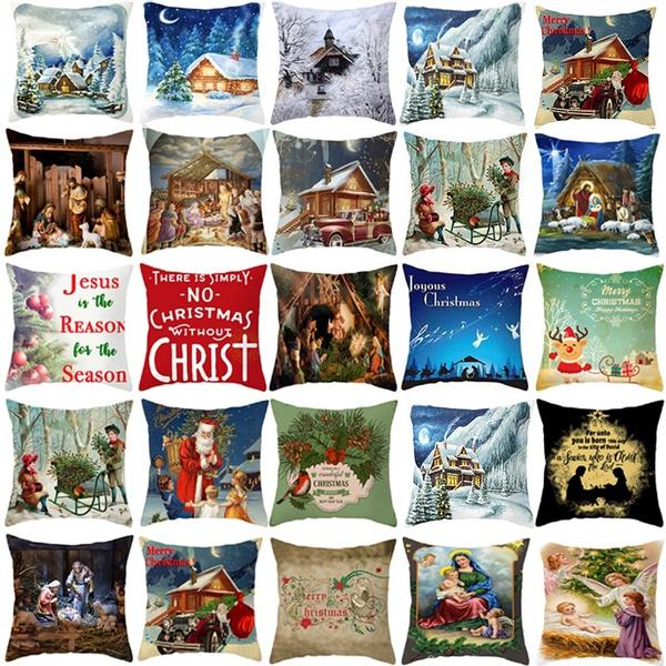 christmaspillowcase, case, decorativepillowcase, Cover