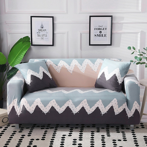 Miraculous Simple Geometric Striped Pattern Elastic Non Slip Sofa Slipcover Couch Cover 1 2 3 4 Seater Office Hotel Living Room Universal Sofa Cover Housse Uwap Interior Chair Design Uwaporg