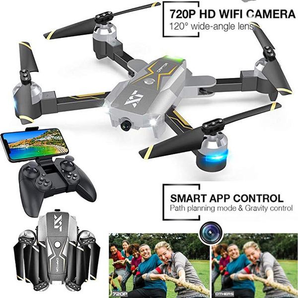 WiFi FPV Drone with Camera Live Video 720P HD, RC Drones for Beginners  Camera Drone with Optical Flow Positioning, Gravity Control, Voice Control,