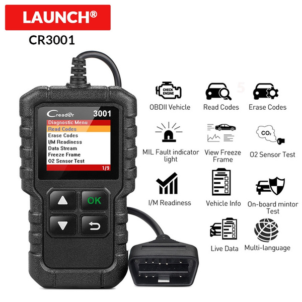 LAUNCH CR3001 Car Auto Scanner Code Reader OBD2 OBDII Diagnostic Tool Fashion