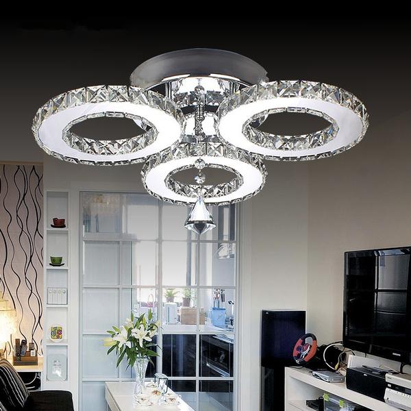 Modern K9 Crystal Led Ceiling Light