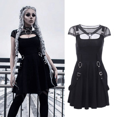Summer, Goth, summer dress, high waist