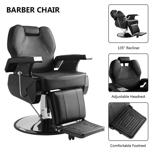 Surprising Classic Hydraulic Recline Hair Salon Iron Leather Sponge Barber Chair Black Gmtry Best Dining Table And Chair Ideas Images Gmtryco