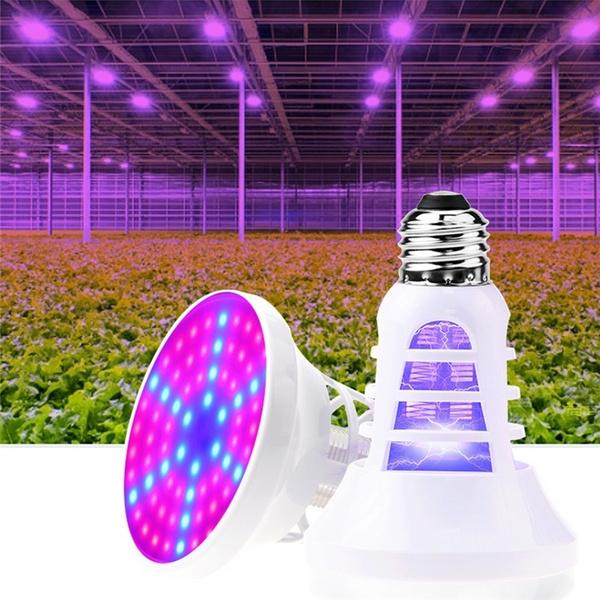 Wish | 78 led Mosquito Killer / Plant Growth Light 2 in 1 Full Spectrum Fill Light Bulb E26/E27 Plant Bulb             Voltage: Input 110V or 220V